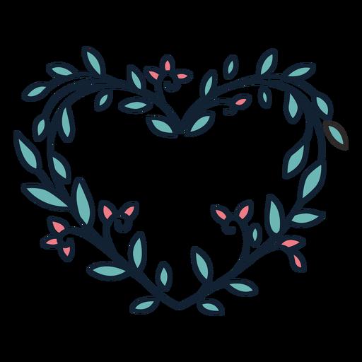 Guirnalda de flores hojas pequeñas dibujadas a mano Transparent PNG