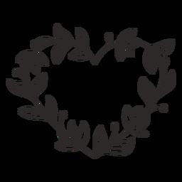 Guirnalda de flores hojas gruesas trazo