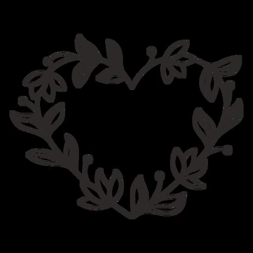 Traço de folhas grossas de guirlanda de flores