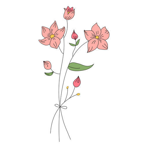 Flowers buds drawing hand drawn