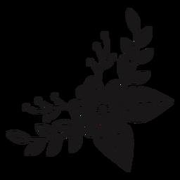 Composición de primavera creciente de flores