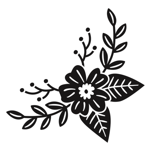 Flowers crescent spring composition Transparent PNG