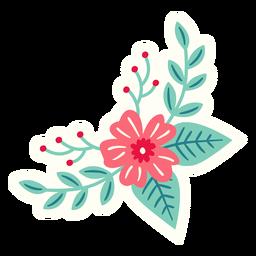 Composição de primavera crescente de flores plana
