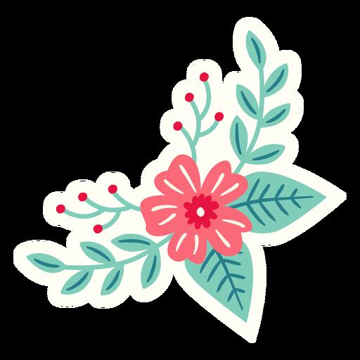Flowers crescent spring composition flat Transparent PNG