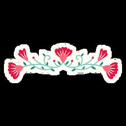 Composição de primavera horizontal de flores plana