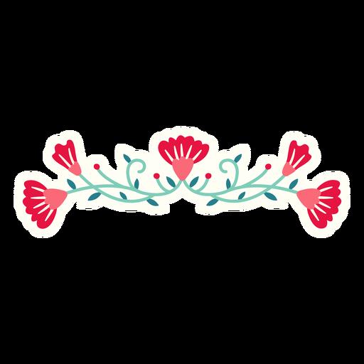 Flores primavera horizontal composición plana