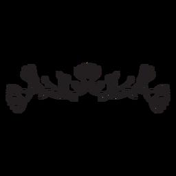 Flores horizontalspring composición trazo