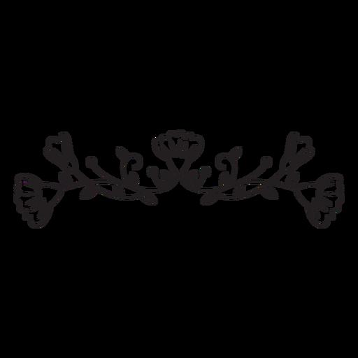 Traço de composição de mola horizontal de flores