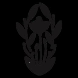 Composición de primavera ovalada de flores