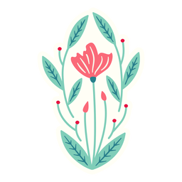 Flores primavera ovalada composición plana
