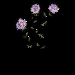 Flores roxo desenho mão desenhada