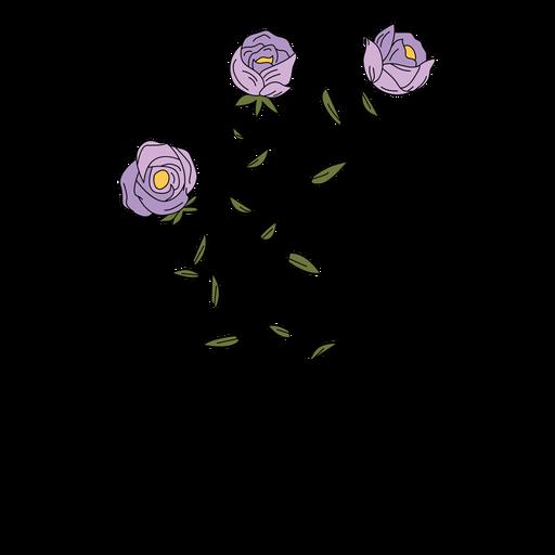 Flowers purple drawing hand drawn
