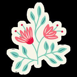 Flores redondas primavera composición plana