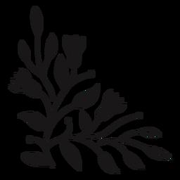 Composición de primavera triangular de flores
