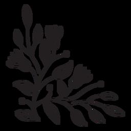Trazo de composición de borde de flores