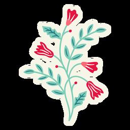 Composición de primavera vertical de flores plana
