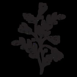 Flores trazo de composición de primavera vertical