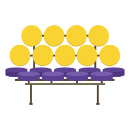 Banco de muebles pop art plano