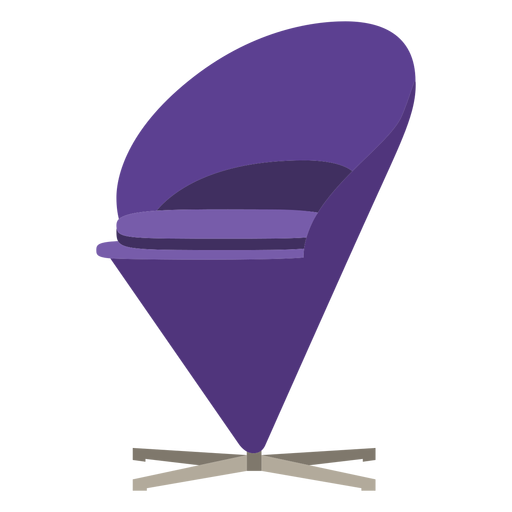 Furniture pop art chair cone purple flat Transparent PNG