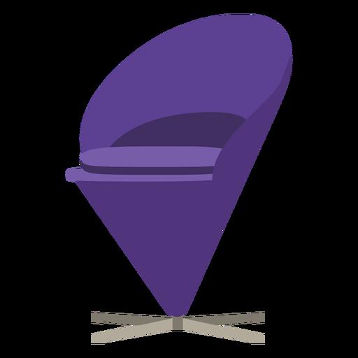 Furniture pop art chair cone purple flat