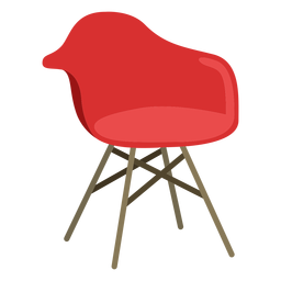 Furniture pop art chair red flat