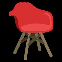 Muebles pop art silla rojo plano