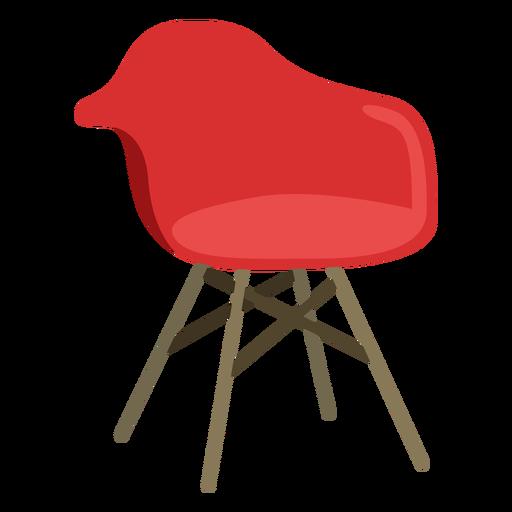 Muebles silla pop art rojo plano Transparent PNG