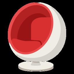 Muebles pop art silla esférica roja plana
