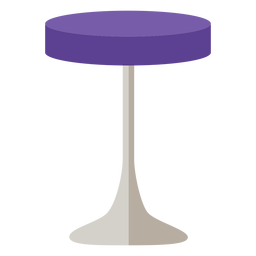 Furniture pop art stool purple revolve flat