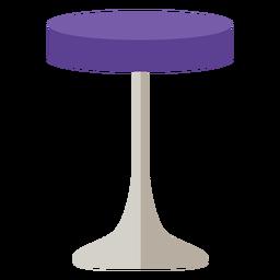 Mueble taburete pop art violeta revolve flat