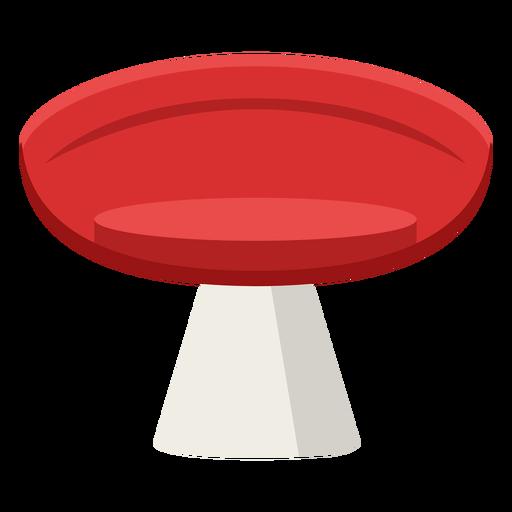 Furniture pop art stool red flat Transparent PNG