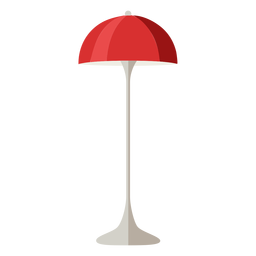 Furniture pop art table lamp red flat