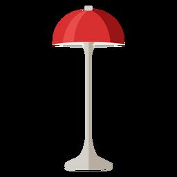 Móveis pop art lâmpada de mesa vermelho liso