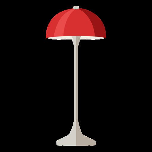 Furniture pop art table lamp red flat Transparent PNG
