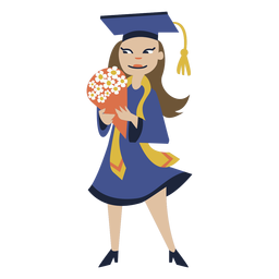 Girl bouquet graduation flat