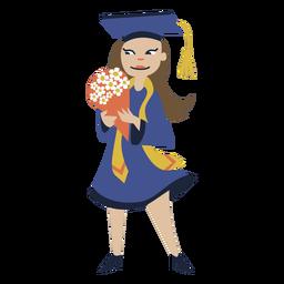 Graduação de buquê de menina plana