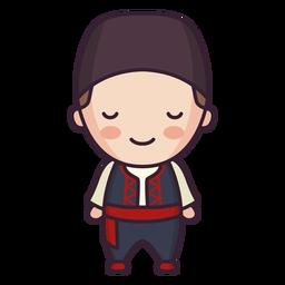 Chico lindo personaje de Grecia plana