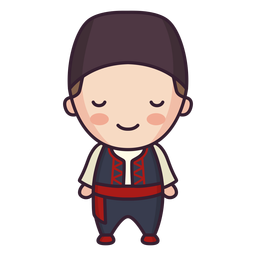 Grécia personagem fofo garoto apartamento