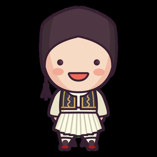 Grecia lindo personaje chico riendo plano