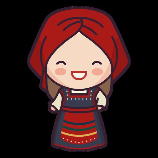 Grecia lindo personaje niña riendo plana