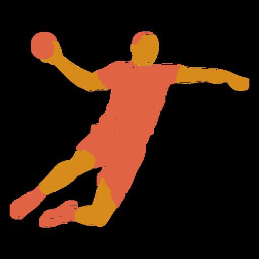 Balonmano hombre frente plano