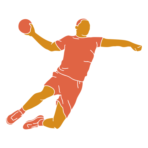 Handball man front flat