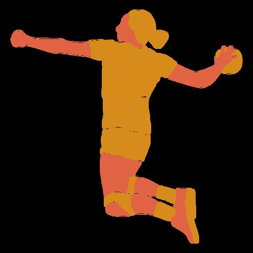 Handball woman back flat