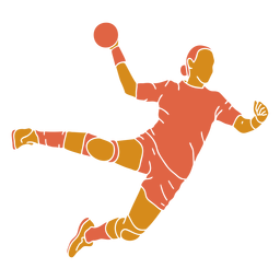 Handball woman front flat