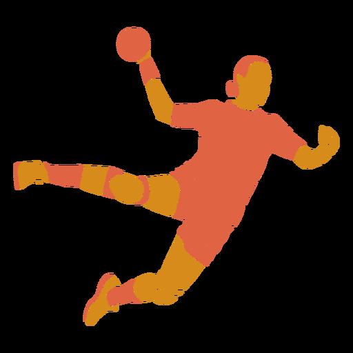 Balonmano mujer frente plana