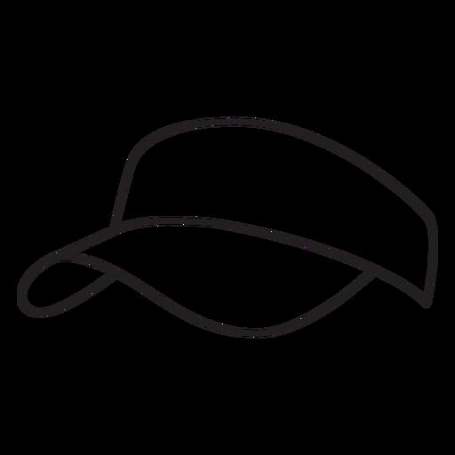 Hat pickleball element stroke Transparent PNG
