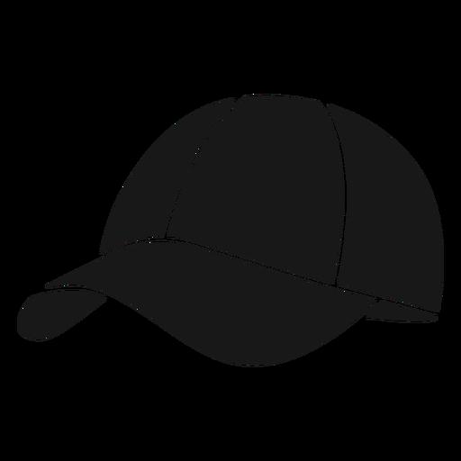 Hat round pickleball black Transparent PNG