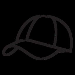Sombrero redondo trazo de elemento pickleball