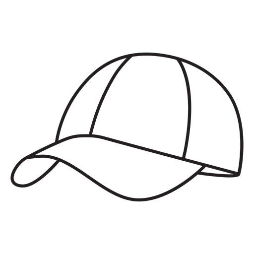 Hat round pickleball element stroke Transparent PNG