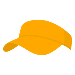 Hat yellow pickleball flat
